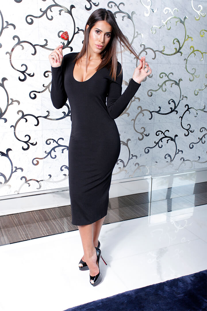 Long Dress Black 03