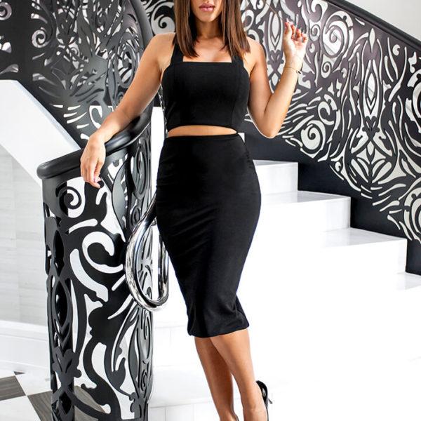 Long Skirt Black01