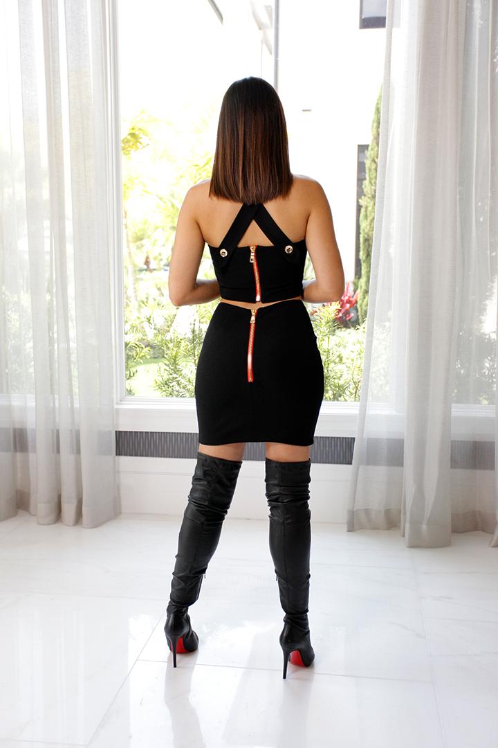 Mini Skirt Black 02