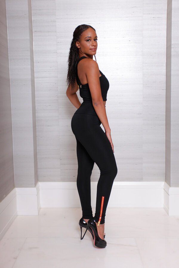 Zip Legging - Black 02